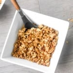 Almond Pecan Granola: It's easy to make your own delicious, healthy and preservative-free granola! Add these clusters to your favourite yogurt or eat alone as a snack | aheadofthyme.com