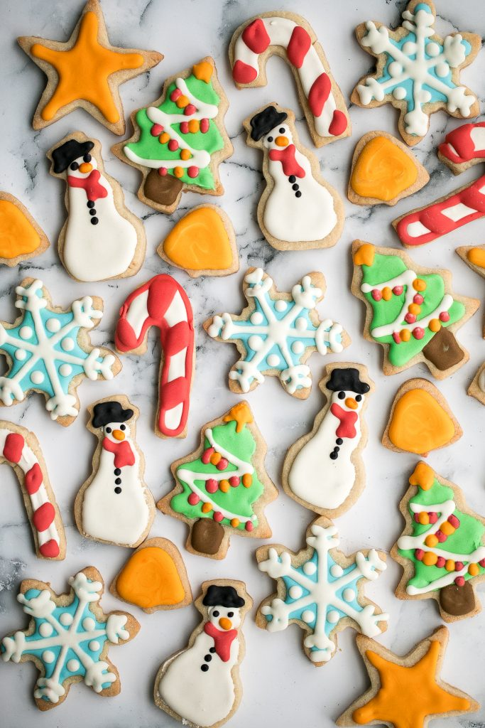 Christmas Sugar Cookies With Royal Icing Ahead Of Thyme