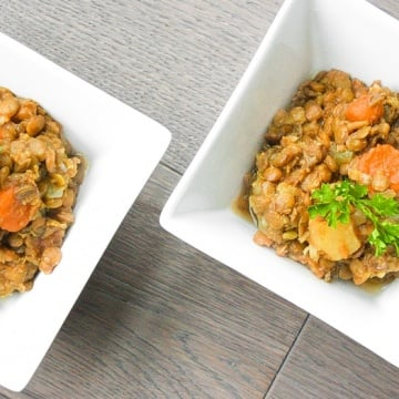 Lentil Stew with Carrots and Potatoes: This hearty Middle Eastern vegetarian stew makes for a nutritious and wholesome meal tonight   aheadofthyme.com