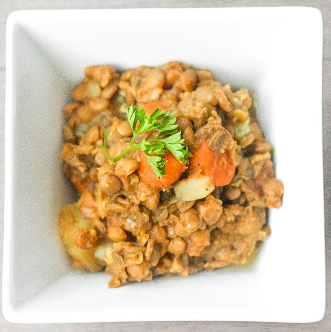 Lentil Stew with Carrots and Potatoes: This hearty Middle Eastern vegetarian stew makes for a nutritious and wholesome meal tonight | aheadofthyme.com