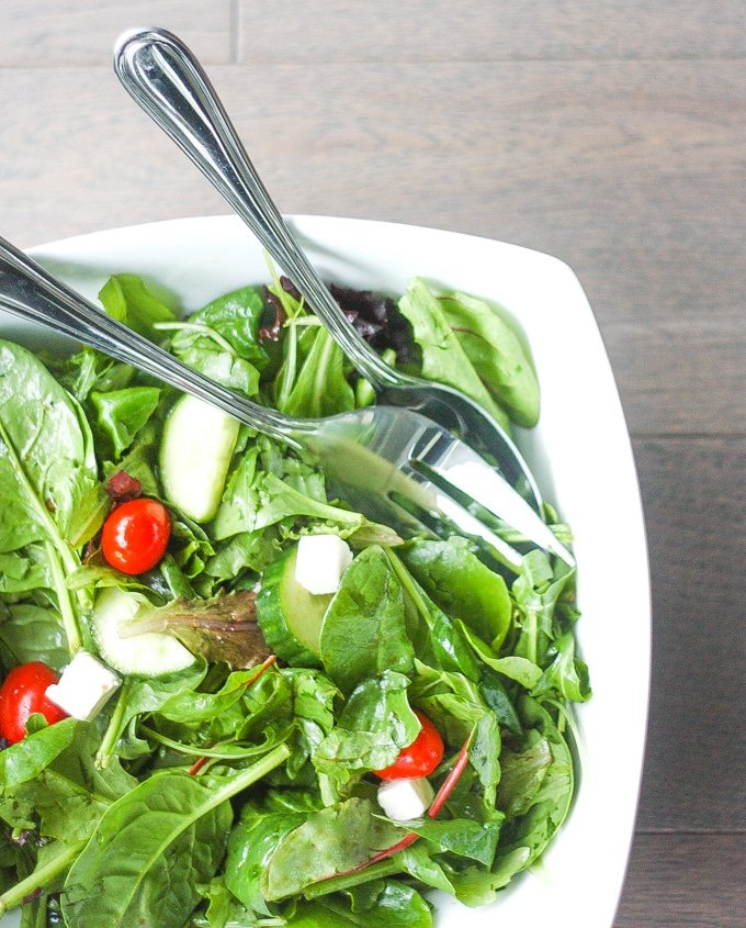 Mixed Greens Salad With Balsamic Vinaigrette Ahead Of Thyme