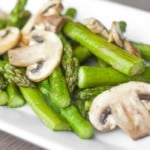 Roasted Garlic Asparagus and Mushrooms [VEGAN]