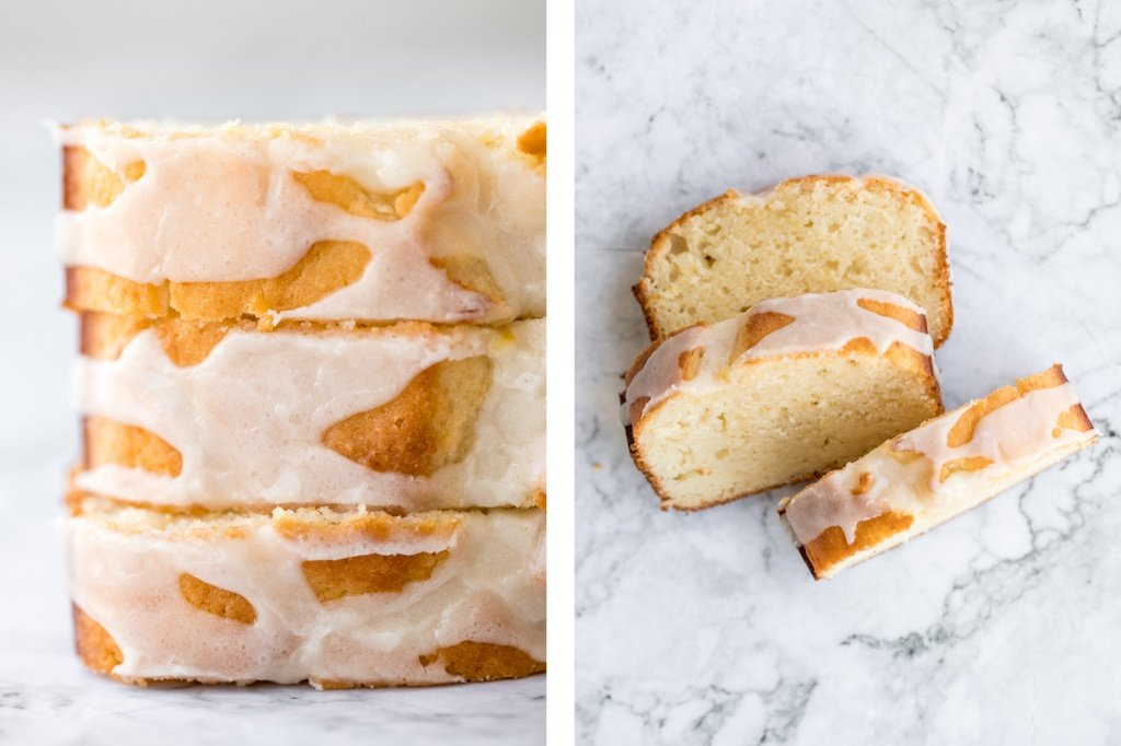 Inspired by Starbucks lemon loaf, this moist, homemade lemon loaf with lemon glaze has the perfect balance between sweet and tangy, and so so flavourful. | aheadofthyme.com