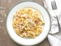 Creamy Pasta With Turkey Bacon Ahead Of Thyme
