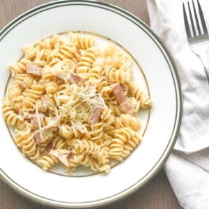 Creamy Pasta with Turkey Bacon | aheadofthyme.com | Ahead ...