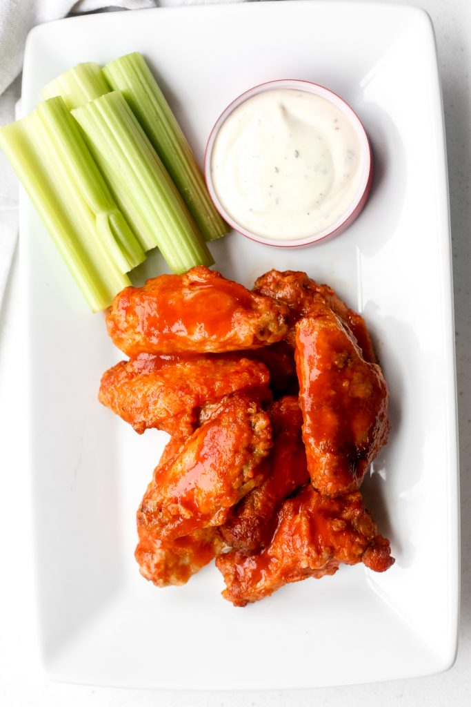 Is it even game day without game day buffalo hot wings? This classic appetizer is a total crowd pleaser and one of my most popular Super Bowl recipes. | aheadofthyme.com