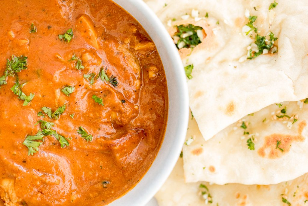 Better than takeout, make easy Indian butter chicken in just 30 minutes, with a creamy tomato-based sauce, charred chicken, and incredible spice + flavour. | aheadofthyme.com