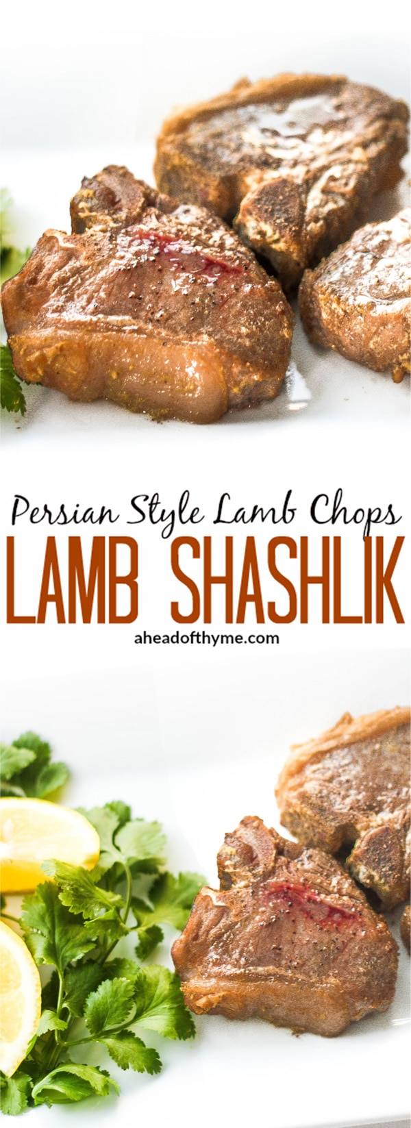 Persian Style Lamb Chops (Lamb Shashlik): Juicy, tender and bursting flavour, lamb shashlik will be your new favourite way to make lamb chops.