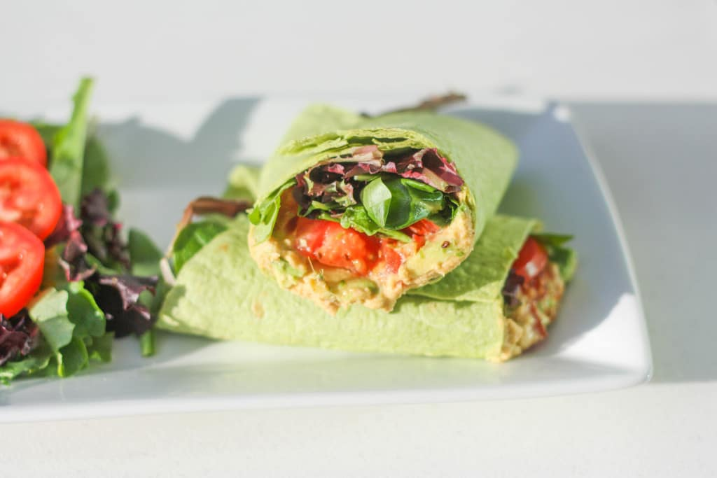 Vegan Hummus Wrap: This vegan hummus wrap is quick, simple and, best of all, healthy! Follow this easy recipe for a delicious lunch | aheadofthyme.com