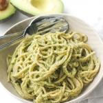 Creamy Avocado Basil Pesto Spaghetti