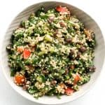 Quinoa Spinach Power Salad with Lemon Vinaigrette