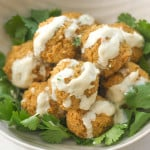 Quinoa, Cauliflower and Chickpea Vegetarian Meatballs with Tahini Sauce