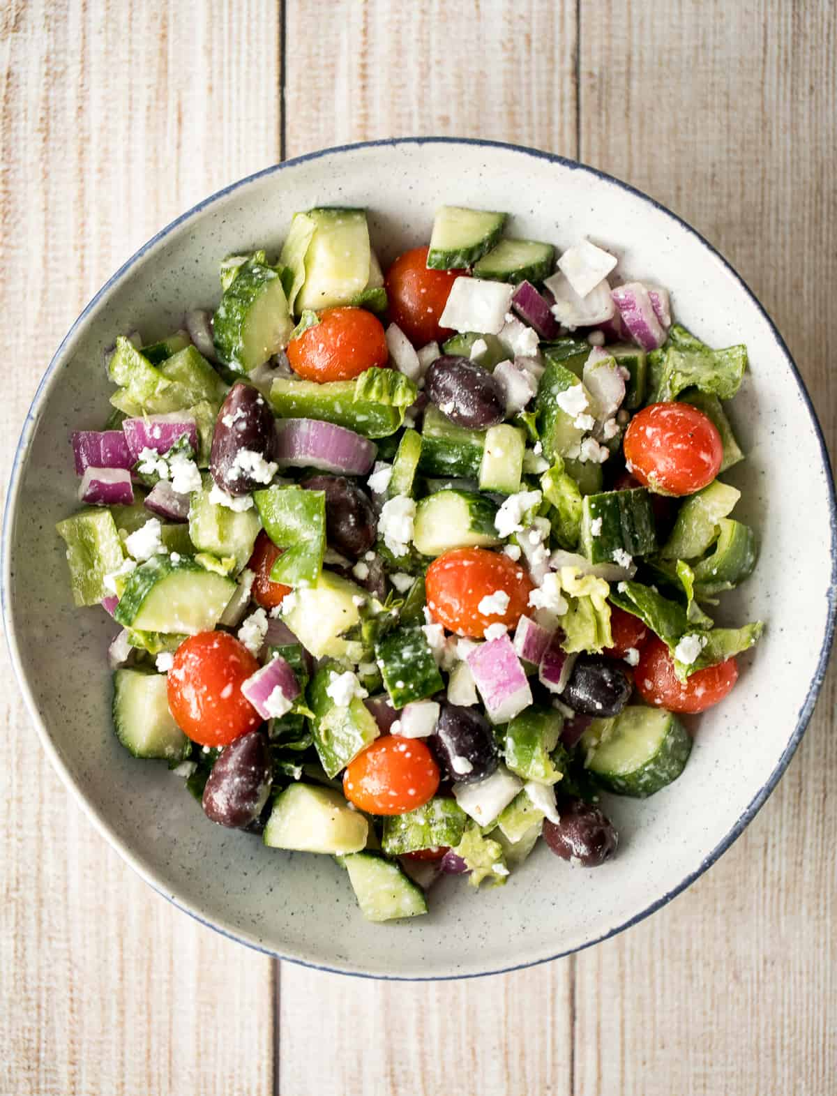 The Perfect Greek Salad Ahead Of Thyme