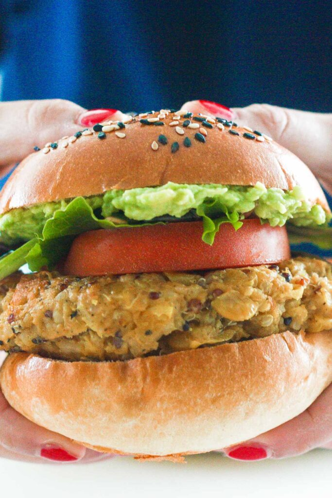 You don't need to be vegetarian to enjoy a protein-packed, juicy and flavourful homemade veggie burger with lima beans.   aheadofthyme.com