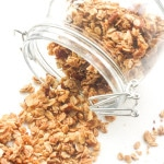 Coconut Maple Walnut Granola: Give yourself a healthy start to your day with some homemade coconut maple walnut granola. You will never go back to that high-sugar store-bought stuff! | aheadofthyme.com