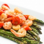 Roasted Lemon Garlic Shrimp and Asparagus