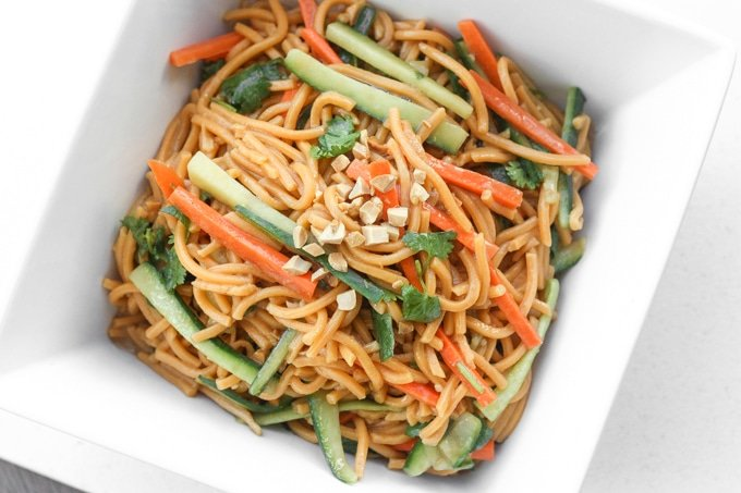 Asian Cold Noodle Salad | Ahead of Thyme