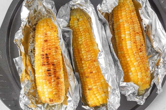 Oven roasted corn on the cob with garlic butter ahead of thyme oven roasted corn on the cob with garlic butter when it is inconvenient to ccuart Image collections