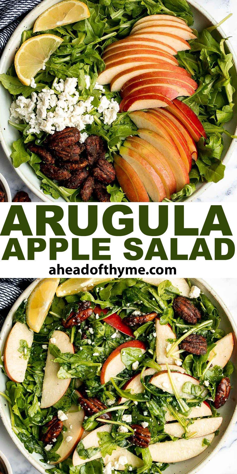 Arugula Salad with Apple and Pecan