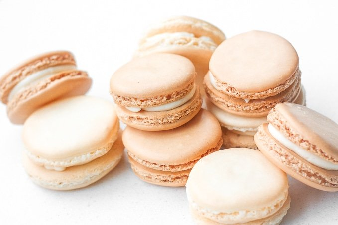 Classic French Macaron With Vanilla Buttercream Filling Every Bite Of This Sweet