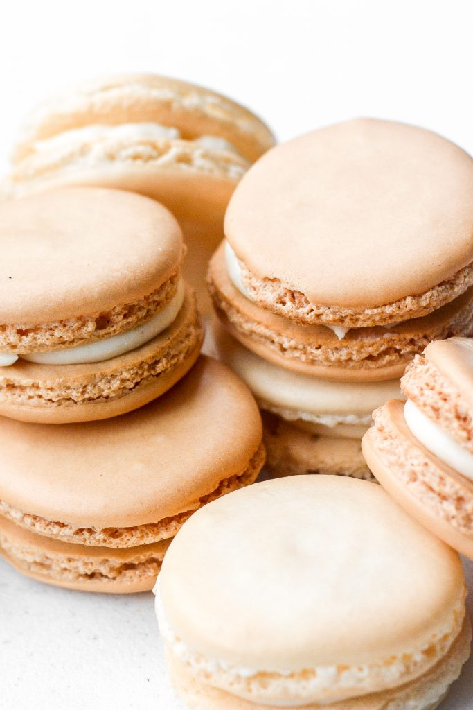 Every bite of this sweet, classic french macaron with vanilla buttercream filling melts in your mouth. | aheadofthyme.com