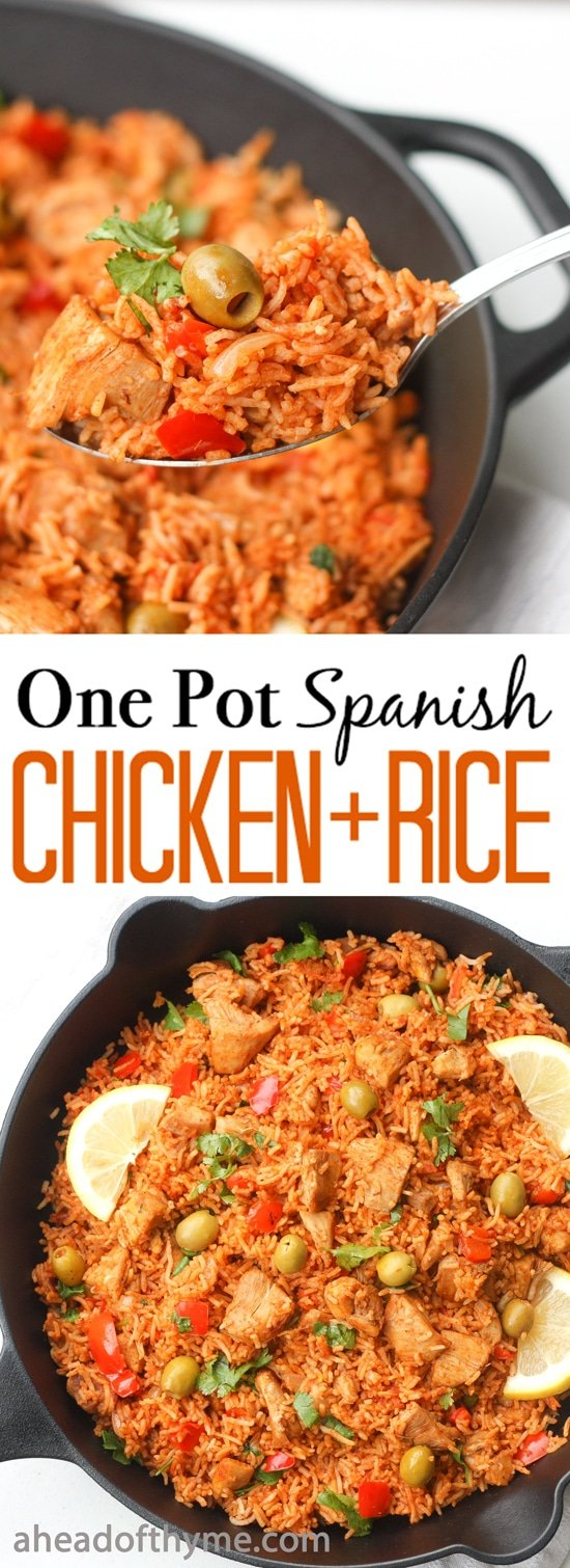 One Pot Spanish Chicken and Rice: Packed with flavour, real ...