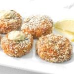"""Craving crab cakes? Make baked tuna """"crab"""" cakes instead for a quick, easy, and cheaper meal option that tastes just as good!   aheadofthyme.com"""