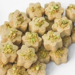 Persian Chickpea Cookies with Pistachio (Nan-e Nokhodchi)