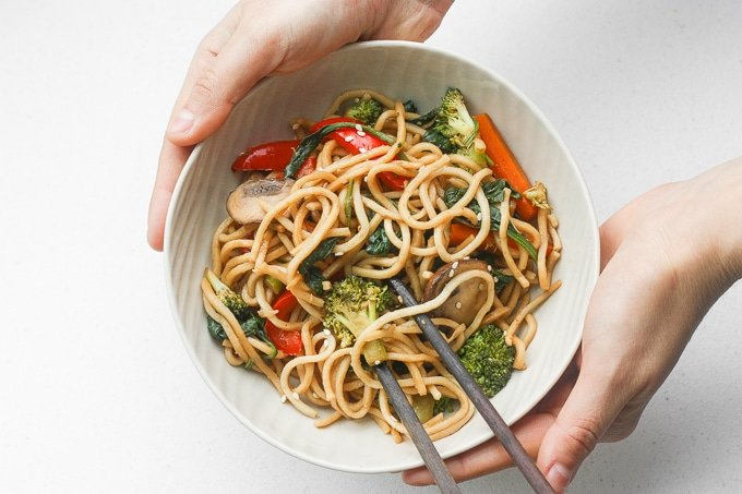 Easy 15 Minute Lo Mein Ahead Of Thyme