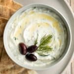 Easy Tzatziki Sauce (Yogurt Cucumber Dip)