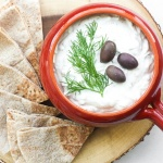 Looking for the perfect dip that goes with everything? Make classic, refreshing and cool tzatziki sauce in just a matter of minutes. | aheadofthyme.com
