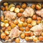 One Pan Garlic Roasted Chicken and Baby Potatoes