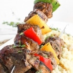 Nothing completes the perfect summer barbecue more than juicy and tender beef shish kebabs. Grilled in only 10-15 minutes! | aheadofthyme.com