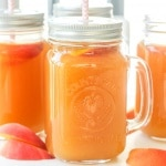 Simple homemade peach iced tea is the perfect summer drink. So refreshing, so peachy, so sweet and so perfect.   aheadofthyme.com