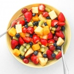 Summer Fruit Salad with Honey Lemon Dressing