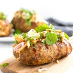 BBQ Chicken Stuffed Baked Potatoes