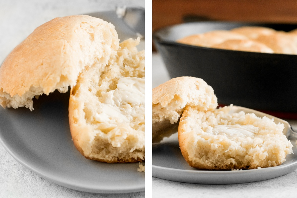 These fluffy, quick and easy dinner rolls will melt in your mouth, making them the only bread recipe you'll need to complement any meal! | aheadofthyme.com