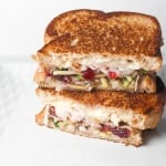 Leftover Thanksgiving Turkey Sandwich with Cranberry Sauce
