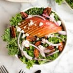Winter Kale Salad with Apple Cider Vinaigrette and Spiced Pecans