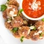 When it comes to weeknight menu planning, baked turkey meatballs reign supreme. Say hello to dinner ready in under 20 minutes from prep to table! | aheadofthyme.com
