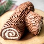 Holiday Yule Log Cake (Bûche de Noël)