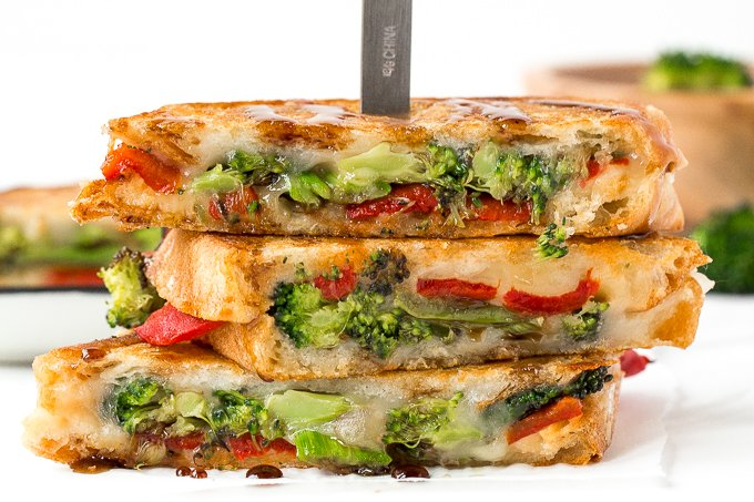Roasted Broccoli Grilled Cheese Sandwich | Ahead of Thyme