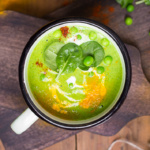 The greenest and most vibrant spinach and green pea soup is extremely healthy, nutrient-dense and packed with flavour. Make a pot of this soup today! | aheadofthyme.com