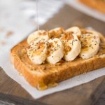 Banana Toast with Granola and Honey