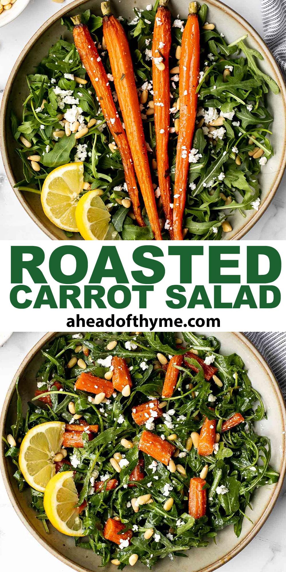 Arugula and Roasted Carrot Salad