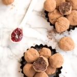 Dark Chocolate Raspberry Truffles