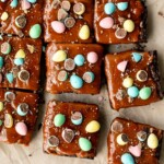 Easter Egg Caramel Brownies