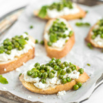 Crostini with Ricotta, Peas and Mint