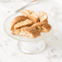 These easy almond biscotti are twice baked to crisp perfection. They are crunchy, light and they are the perfect companion to your favourite cup of tea, coffee, milk or hot chocolate. The only downside is that they are super addictive... so if you have kids in your family, you can double this recipe and you still won't have any leftovers! | AHEADOFTHYME.COM