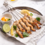 Nothing hits the spot quite right as flame-kissed skewers in the heat of summer. Add in a rich, citrus-based marinade to create delicious, juicy, grilled orange chicken skewers for dinner tonight! | aheadofthyme.com